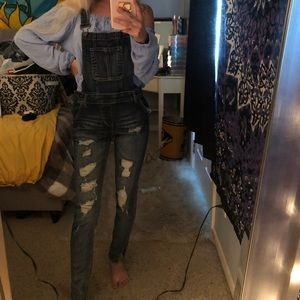 Overall skinny jeans
